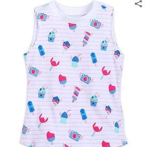 NWT STITCH Disney Store tank top, girls sz XL 14